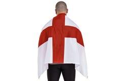 Athlete with england national flag Stock Photo