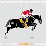 Athlete equestrian Royalty Free Stock Images