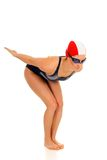 Athlete, female swimmer Royalty Free Stock Photos