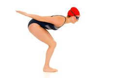 Athlete, female swimmer Royalty Free Stock Image
