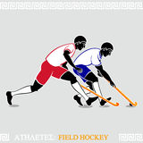 Athlete Field hockey players Royalty Free Stock Images