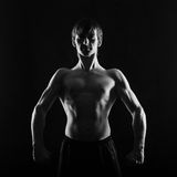 Athlete fighter frontal photo Royalty Free Stock Photography
