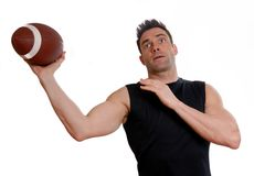 Athlete with football Stock Photos