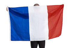 Athlete with france national flag Stock Photography