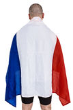 Athlete with france national flag Stock Images