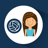 Athlete girl volleyball sport style Royalty Free Stock Images