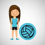 Athlete girl volleyball sport style Royalty Free Stock Photo