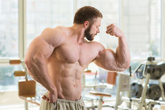 Athlete in gym. Royalty Free Stock Photo