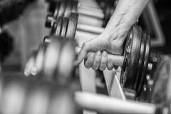 The athlete in the gym Stock Photos