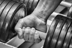 The athlete in the gym Stock Image