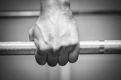 The athlete in the gym Royalty Free Stock Images