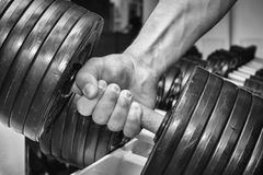 The athlete in the gym Stock Images