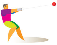The athlete is the hammer thrower. At competitions Royalty Free Stock Photo