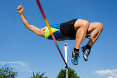 An athlete in high jump Royalty Free Stock Photo