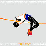 Athlete High Jump Royalty Free Stock Photo