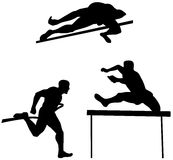 Athlete high jump Stock Image