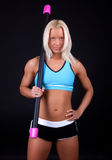Athlete holding fit bar Royalty Free Stock Image