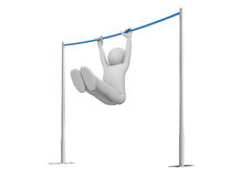 Athlete on horizontal bar Stock Image