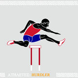 Athlete Hurdler Stock Photo