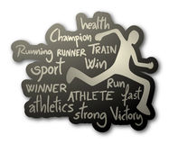 Athlete icon Stock Photography