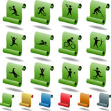 Athlete Icons. A set of 12 athlete icons Royalty Free Stock Photo
