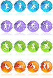 Athlete Icons. A set of athlete icons Stock Images