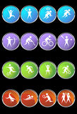 Athlete Icons. A set of athlete icons Royalty Free Stock Images