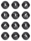 Athlete Icons Royalty Free Stock Image