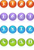Athlete Icons Stock Images