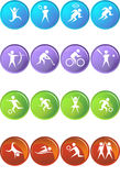 Athlete Icons. A set of athlete icons Royalty Free Stock Photos