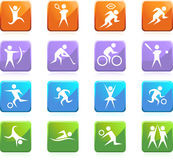 Athlete Icons Royalty Free Stock Photography