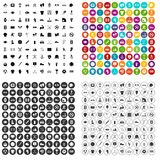 100 athlete icons set vector variant. 100 athlete icons set vector in 4 variant for any web design isolated on white Stock Images
