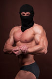 Athlete In A Mask Royalty Free Stock Photo