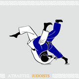 Athlete Judoists Stock Photo