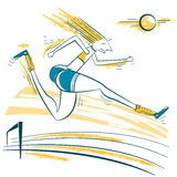 Athlete jumping sport illustration Stock Photo