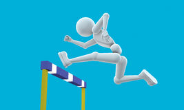 Athlete jumps an obstacle Stock Photo