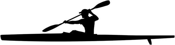 Athlete kayaker sport kayak Stock Image
