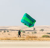 Athlete landed safely by parachute Stock Image