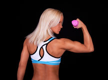 Athlete lifting weights Stock Photos