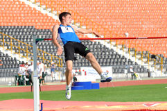 Athlete making  jumping Stock Photography
