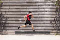 Athlete male running Royalty Free Stock Image
