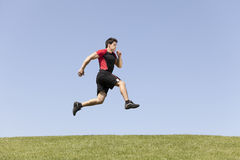 Athlete male running stock photography