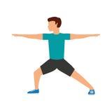 Athlete man avatar fitness. Vector illustration design royalty free illustration