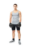 Athlete man with boxing gloves Royalty Free Stock Photography