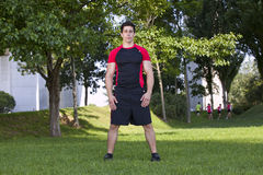 Athlete man at the park Stock Photography