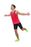 Athlete man posing after victory Royalty Free Stock Images