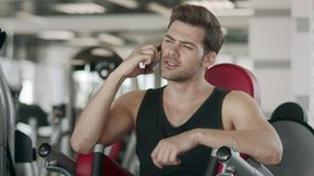 Sport Man During Training In The Gym  Stock Footage - Video