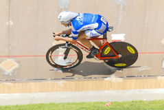 Athlete member of the Canadian's team race. BROMONT-AUGUST 29:Unknown athlete member of the Canadian's team race on 2010 National Canadian Track Championships on royalty free stock image