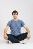 Athlete mentally preparing for training Royalty Free Stock Images