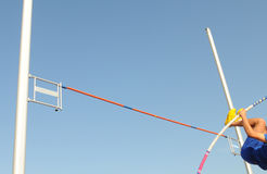 Pole vaulter athlete Royalty Free Stock Images